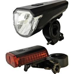 komplet svjetla za bicikl Arcas led pogon na punjivu bateriju crna