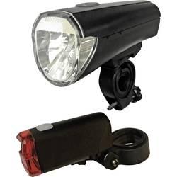 komplet svjetla za bicikl Arcas led baterijski pogon crna