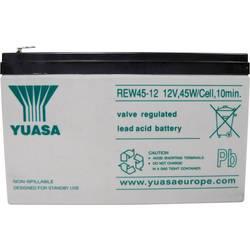 Yuasa REW 45 - 12 REW45/12 svinčeni akumulator 12 V 8 Ah svinčevo-koprenast (Š x V x G) 151 x 97 x 64 mm ploščati vtič, 6,35 mm
