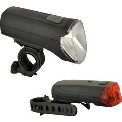 Komplet svetil za kolo Fischer Fahrrad 85347 LED Baterijsko Črna