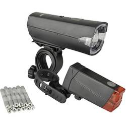 Komplet svetil za kolo Fischer Fahrrad 85337 LED Baterijsko Črna