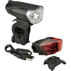 Komplet svetil za kolo Fischer Fahrrad 85354 LED Akumulatorsko Črna