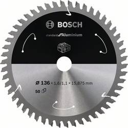 Bosch Accessories 2608837753 list krožne žage 136 x 15.875 mm Število zobcev (na colo): 50 1 kos