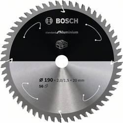 Bosch Accessories 2608837769 list krožne žage 190 x 20 mm Število zobcev (na colo): 56 1 kos