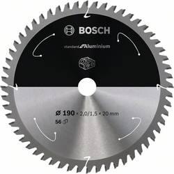 Bosch Accessories 2608837770 list krožne žage 190 x 20 mm Število zobcev (na colo): 56 1 kos