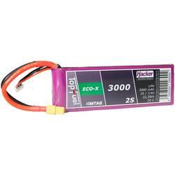 Hacker LiPo akumulatorski paket za modele 7.4 V 3000 mAh Število celic: 2 20 C Mehka torba XT60