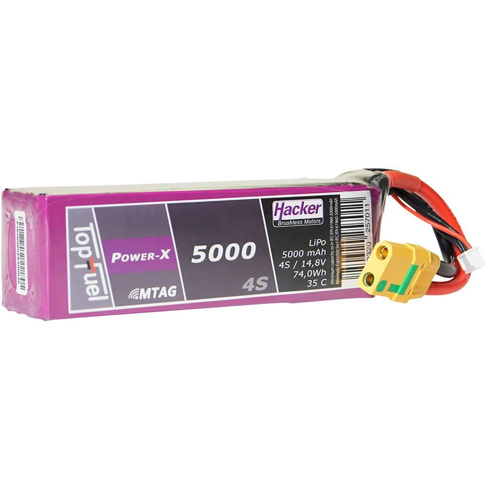 Hacker lipo akumulatorski paket za modele 14.8 V 5000 mAh Število celic: 4 35 C mehka torba xt90