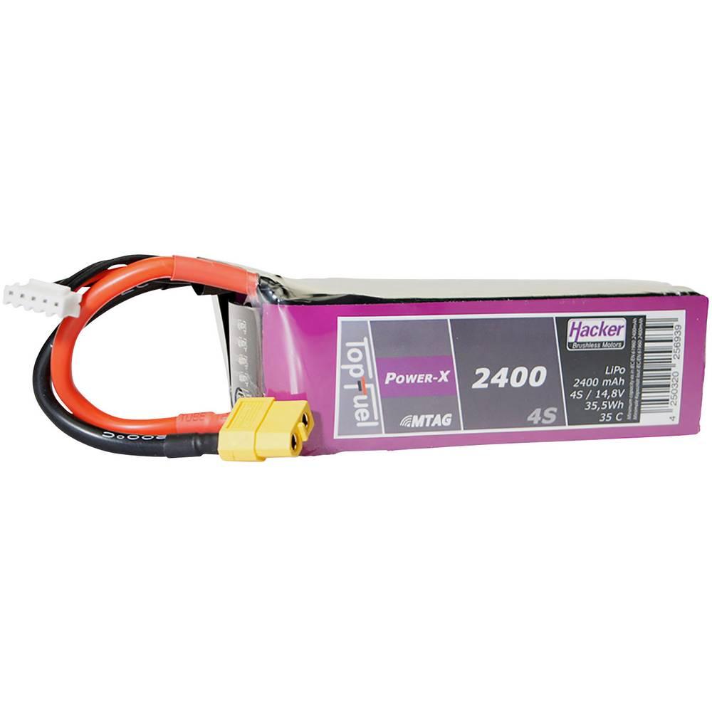 Hacker lipo akumulatorski paket za modele 14.8 V 2400 mAh Število celic: 4 35 C mehka torba xt60