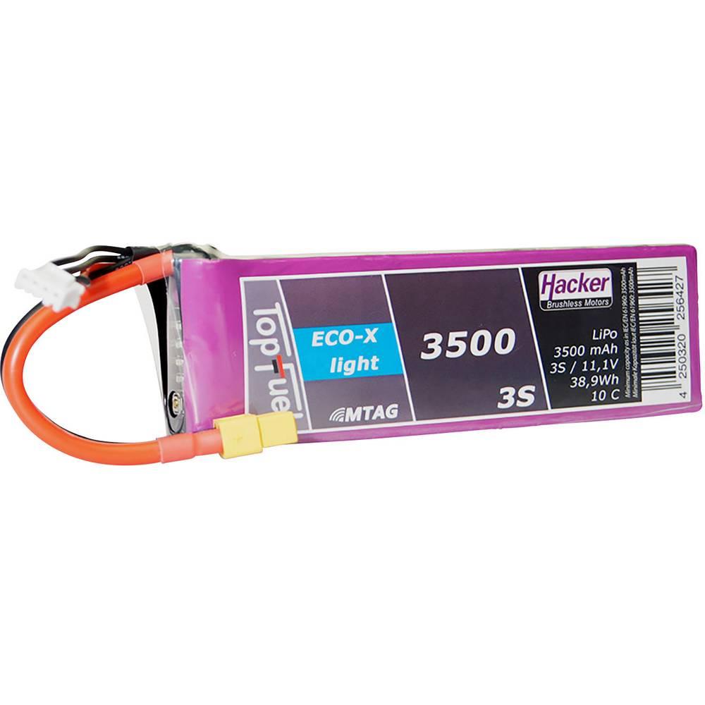 Hacker lipo akumulatorski paket za modele 11.1 V 3500 mAh Število celic: 3 10 C mehka torba xt60