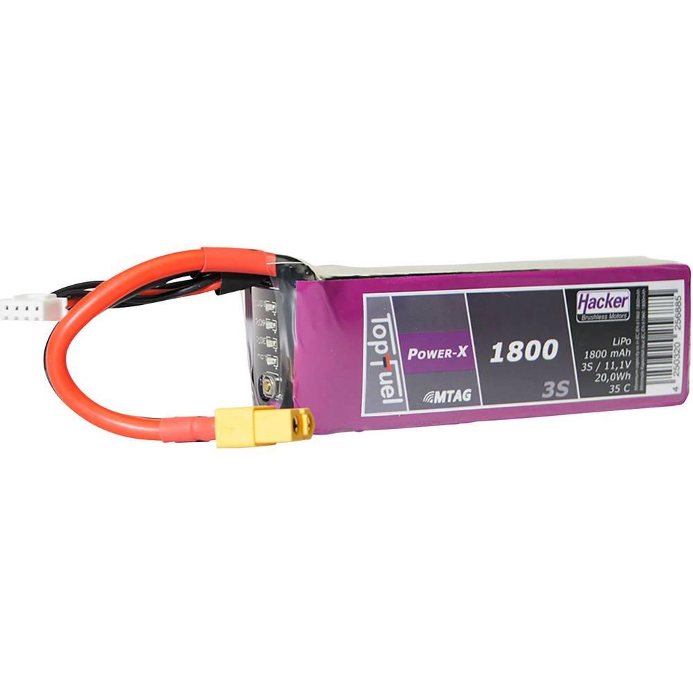 Hacker lipo akumulatorski paket za modele 11.1 V 1800 mAh Število celic: 3 35 C mehka torba xt60