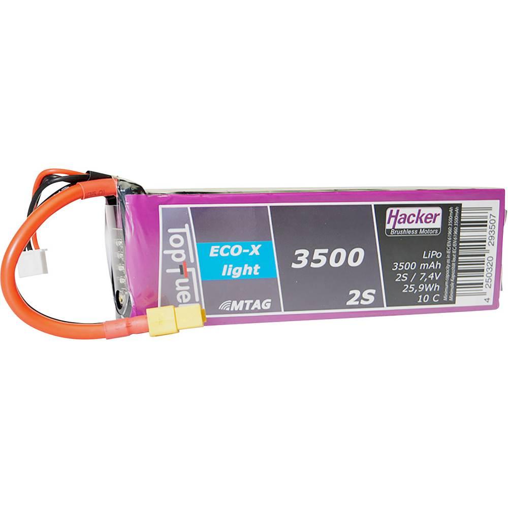 Hacker lipo akumulatorski paket za modele 7.4 V 3500 mAh Število celic: 2 10 C mehka torba xt60