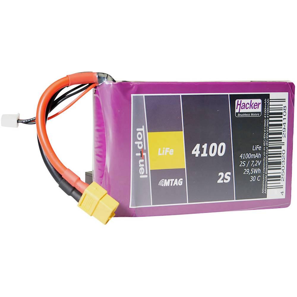 Hacker LiFe akumulatorski paket za modele 6.6 V 4100 Število celic: 2 30 C Mehka torba XT60