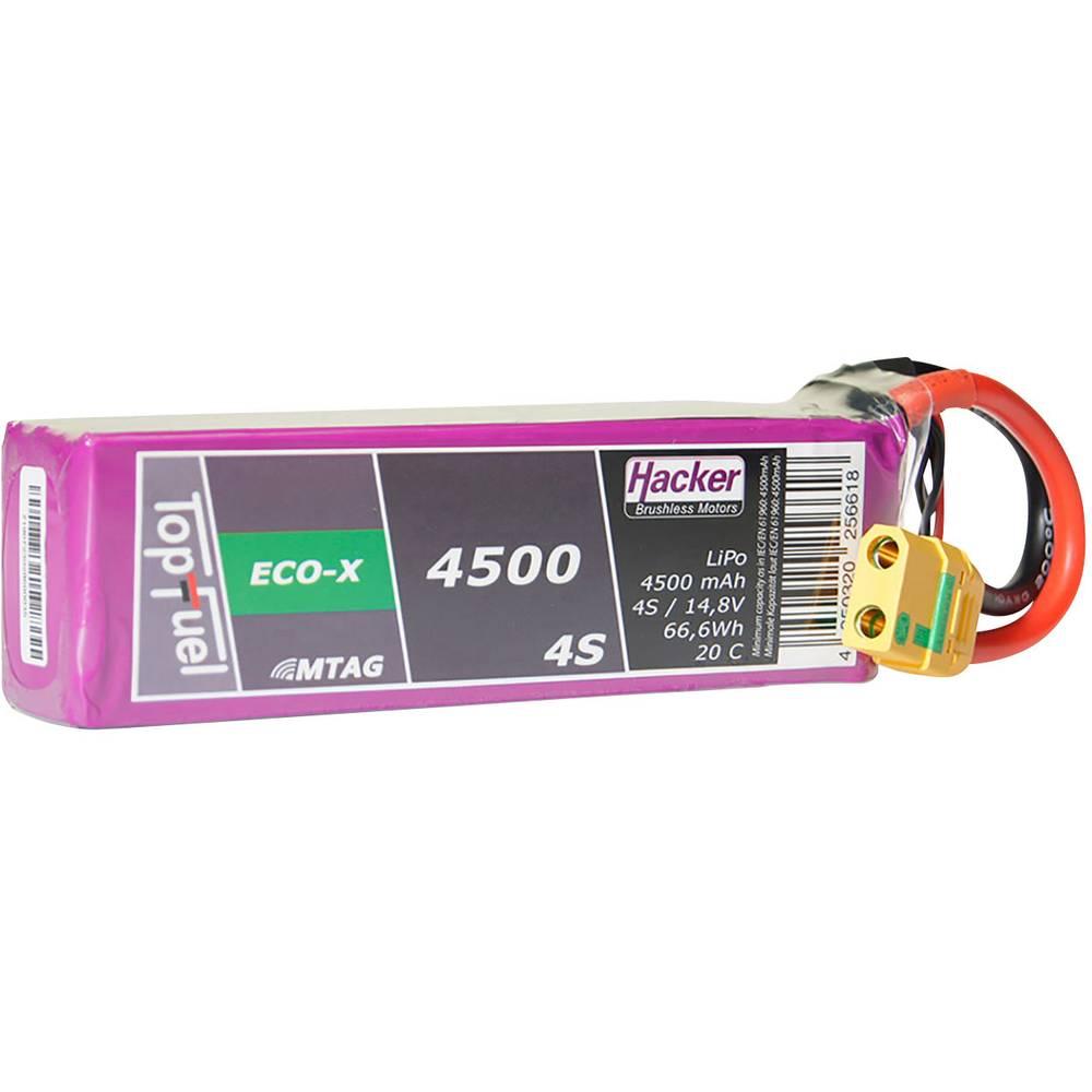 Hacker lipo akumulatorski paket za modele 14.8 V 4500 mAh Število celic: 4 20 C mehka torba xt90