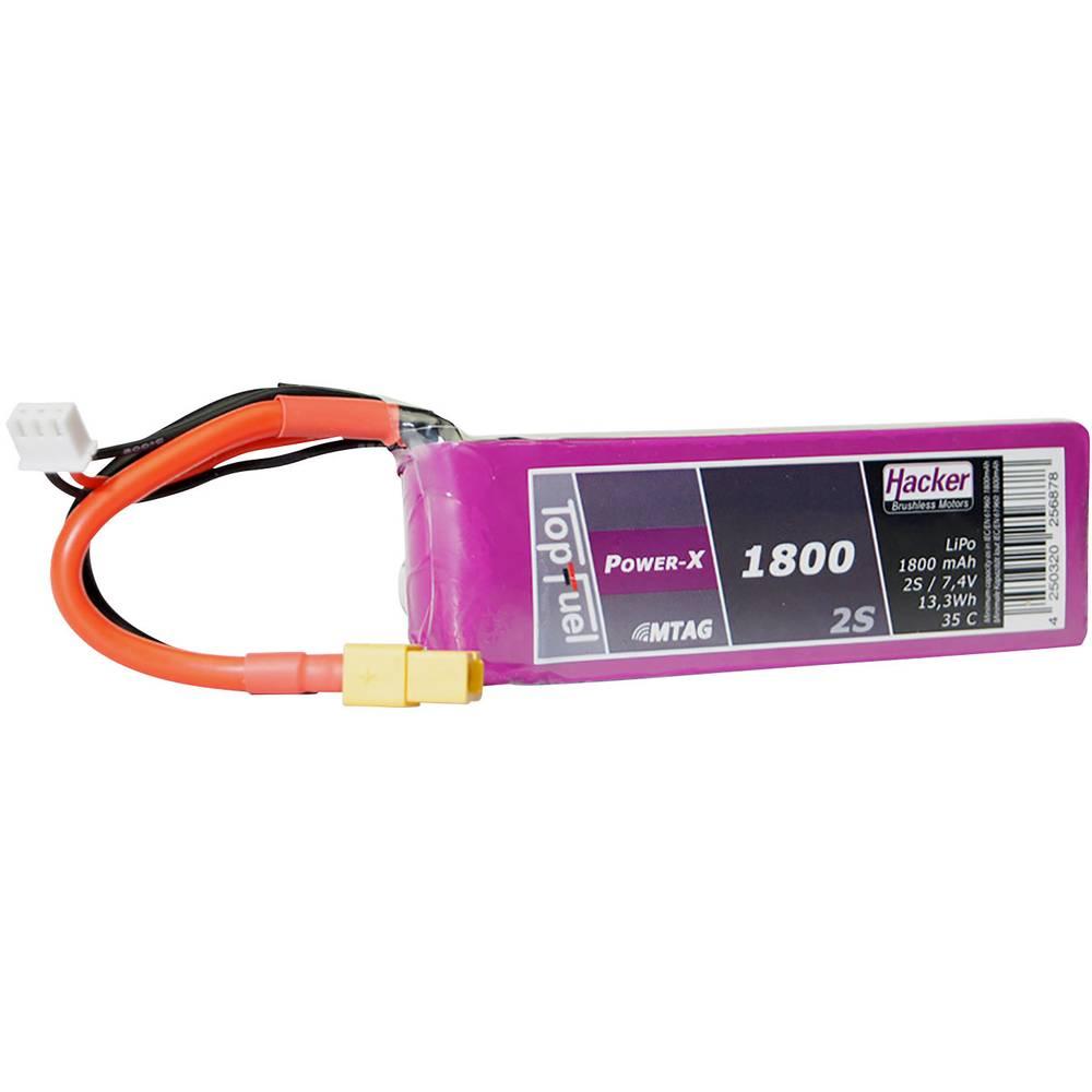 Hacker lipo akumulatorski paket za modele 7.4 V 1800 mAh Število celic: 2 35 C mehka torba xt60
