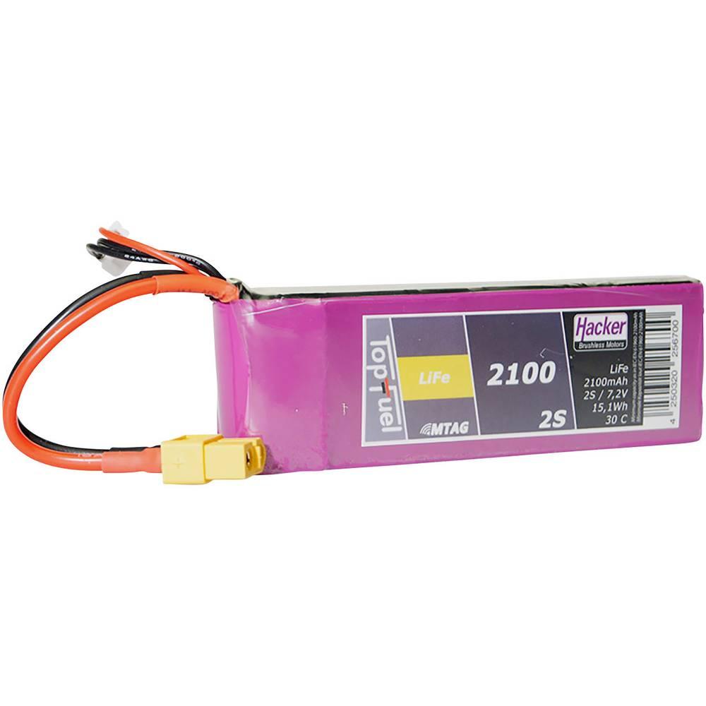 Hacker life akumulatorski paket za modele 6.6 V 2100 mAh Število celic: 2 30 C mehka torba xt60