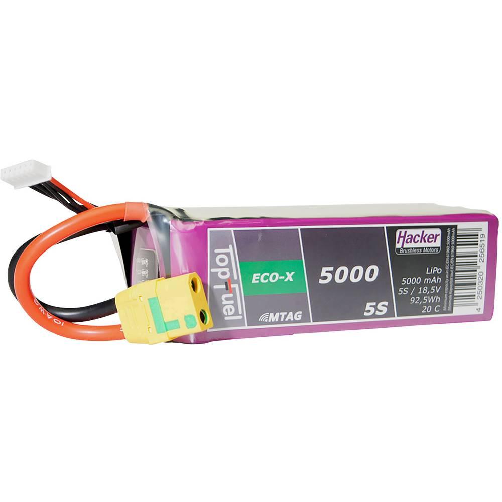 Hacker lipo akumulatorski paket za modele 18.5 V 5000 mAh Število celic: 5 20 C mehka torba xt90