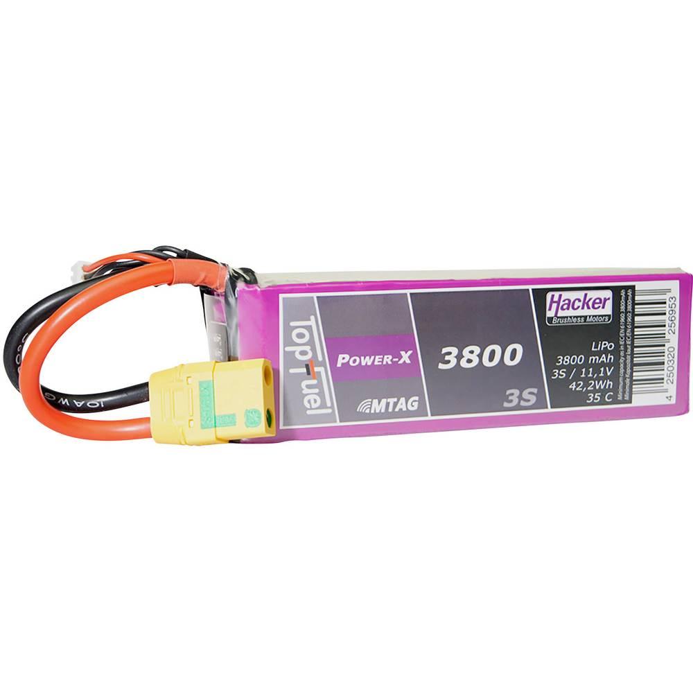 Hacker lipo akumulatorski paket za modele 11.1 V 3800 mAh Število celic: 3 35 C mehka torba xt90