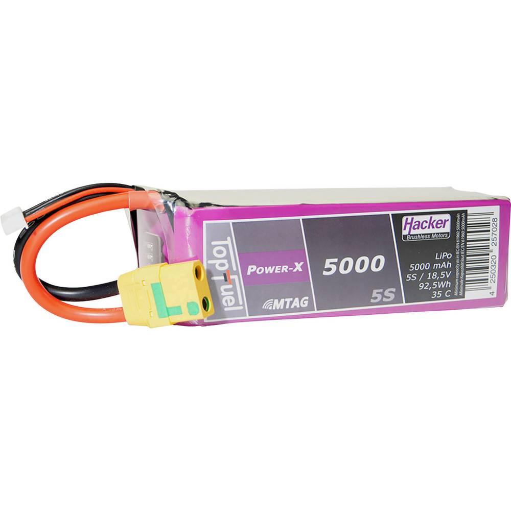 Hacker lipo akumulatorski paket za modele 18.5 V 5000 mAh Število celic: 5 35 C mehka torba xt90