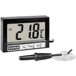 27137 Eufab termometer notranja/zunanja temperatura, 12/24 h prikaz -50 do +70 °C