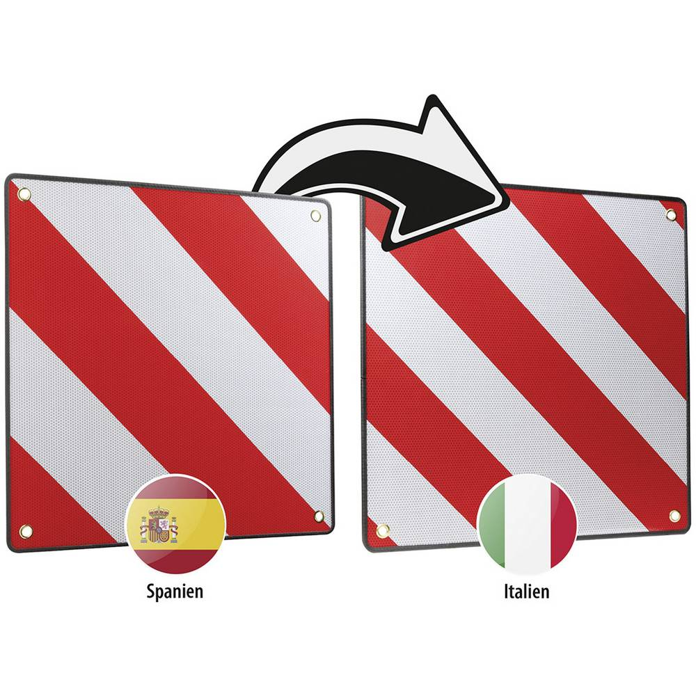 Opozorilna tabla (D x Š) 50 cm x 50 cm LAS 10230 Warntafel 2in1 für Spanien und Italien