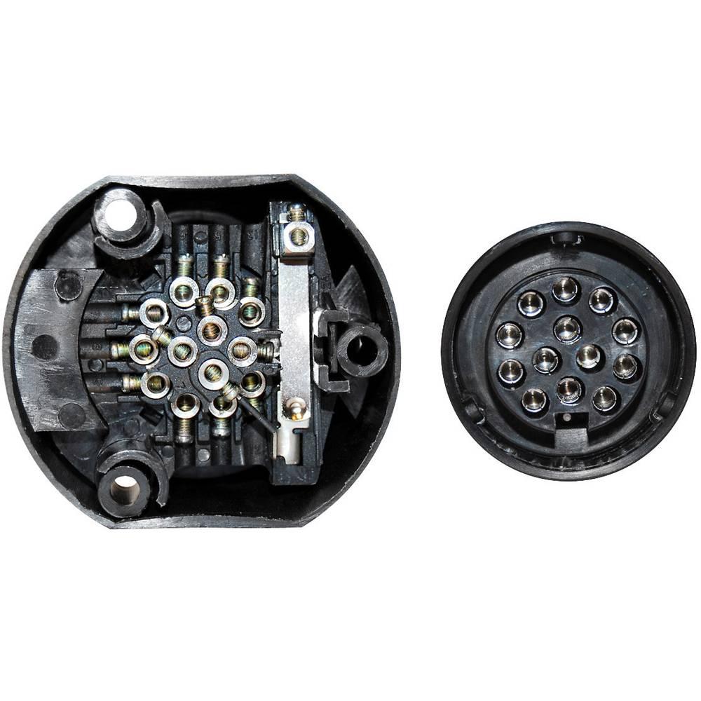 TFA Auto 88005 Vtičnica za prikolico [ - Vtičnica 13-polna] Plastika
