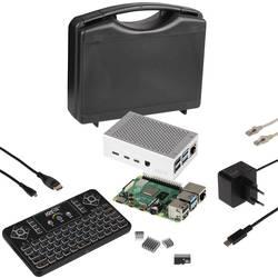 Raspberry Pi® 4 B Pi-Cast Set 4 GB 4 x 1.5 GHz uklj. tipkovnica, uklj. kućište, Uklj. napajanje, uklj. hladnjak, uklj. HDMI