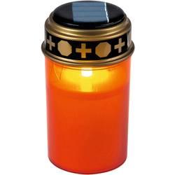 LED svijeća za groblje LED Žuta Heitronic 35960 Crvena