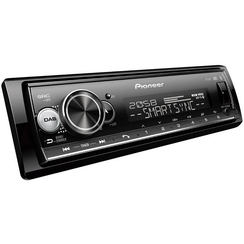Pioneer MVH-S520DAB avtoradio DAB+ radijski sprejemnik, Bluetooth® komplet za prostoročno telefoniranje, radio z aplikacijam