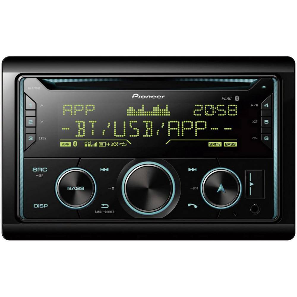 Pioneer FH-S720BT dvojni din avtoradio Bluetooth® komplet za prostoročno telefoniranje, radio z aplikacijami