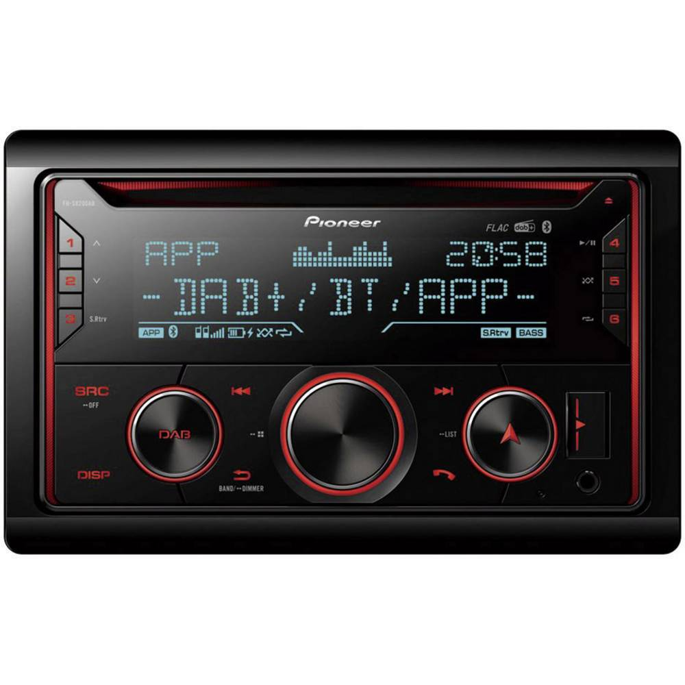 Pioneer FH-S820DAB dvojni din avtoradio DAB+ radijski sprejemnik, Bluetooth® komplet za prostoročno telefoniranje, radio z a