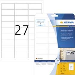 Herma 4864 Etikete (A4) 63.5 x 29.6 mm Mat film Bijela 270 ST Trajno Naljepnice otporne na vremenske uvjete