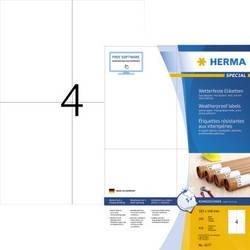 Herma 4377 Etikete (A4) 105 x 148 mm Papir Bijela 400 ST Ekstra jako prianjanje Naljepnice otporne na vremenske uvjete