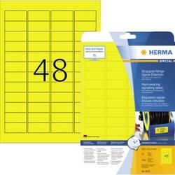 Herma 8030 Etikete (A4) 45.7 x 21.2 mm Poliester film Žuta 1200 ST Ekstra jako prianjanje Vrsta naljepnice