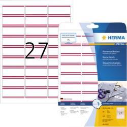 Herma 4512 Etikete (A4) 63.5 x 29.6 mm Acetat Bijela, Crvena 540 ST Ponovno ljepljenje Naljepnice za ime