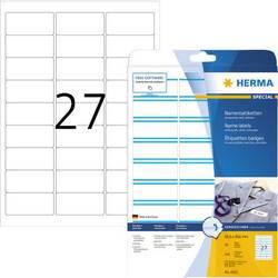 Herma 4513 Etikete (A4) 63.5 x 29.6 mm Acetat Bijela, Plava boja 540 ST Ponovno ljepljenje Naljepnice za ime