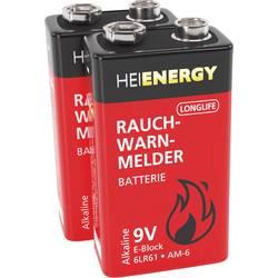 Heitech 9 V block baterija alkalno-manganov 450 mAh 9 V 2 St.
