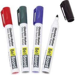 BE! Board Marker za staklenu ploču Crna, Plava boja, Crvena, Zelena B3002 4 kom/paket