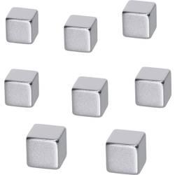 BE! Board Neodimijski magnet (Š x V x d) 10 x 10 x 10 mm Kocka Srebrna 8 ST B3101