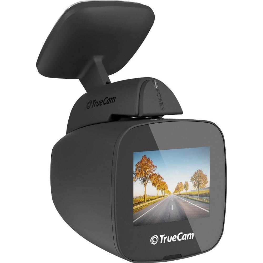 TrueCam TRCH5GPSB Avtomobilska kamera z GPS-sistemom Razgledni kot - horizontalni=130 ° Zaslon