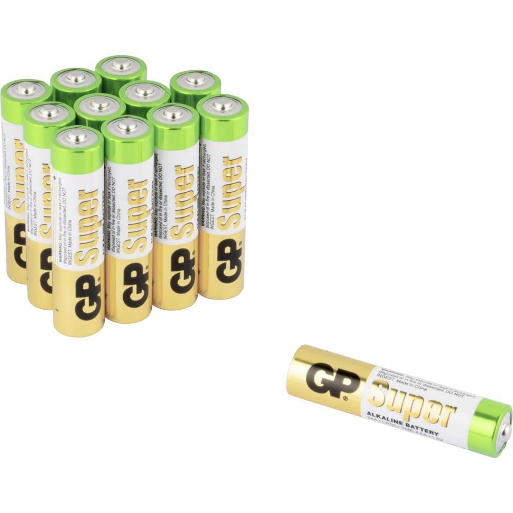 Micro (AAA)-Baterija Alkalno-manganov GP Batteries Super 8+4 1.5 V 12 KOS