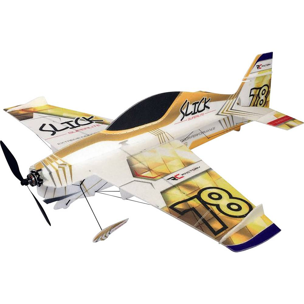Pichler Slick Superlite (Gold) RC mini model letal za uporabo v zaprtem prostoru Komplet za sestavljanje 830 mm