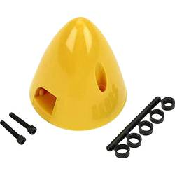 plastika kapa s hladilnim ventilom DU-BRO Premer, ø: 38 mm rumena
