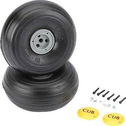 pnevmatike iz penaste gume za model zračnega plovila s plastičnim platiščem, s profilom DU-BRO 86 mm 2 KOS