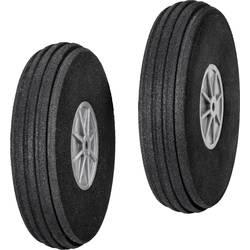 pnevmatike iz penaste gume za model zračnega plovila s plastičnim platiščem, s profilom DU-BRO 76 mm 2 KOS