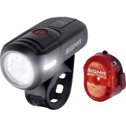komplet svetil za kolo Sigma AURA 45 / Nugget Set led akumulatorsko črna