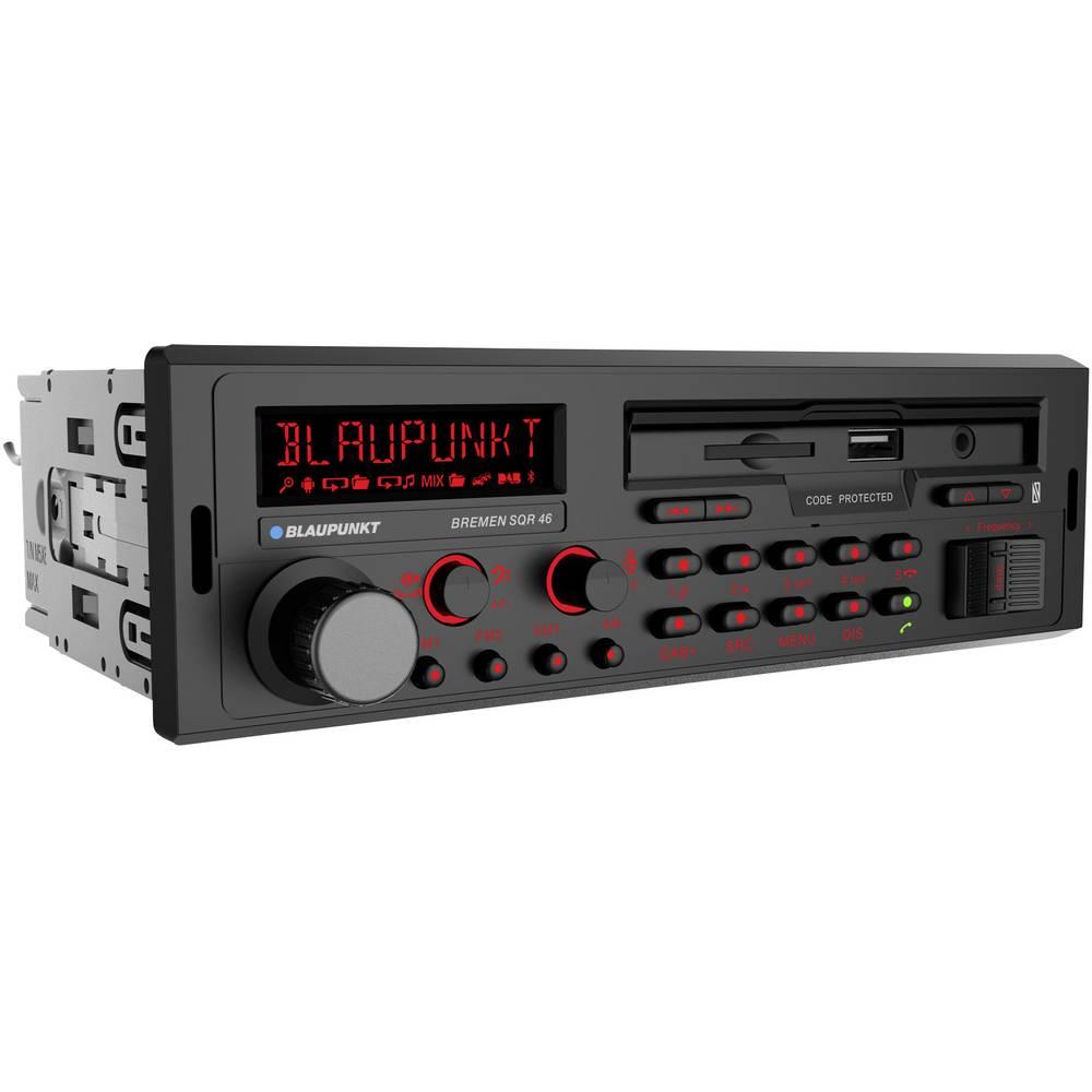 Blaupunkt Bremen SQR 46 DAB Avtoradio DAB + Radijski sprejemnik, Bluetooth® komplet za prostoročno telefoniranje, Retro Desi