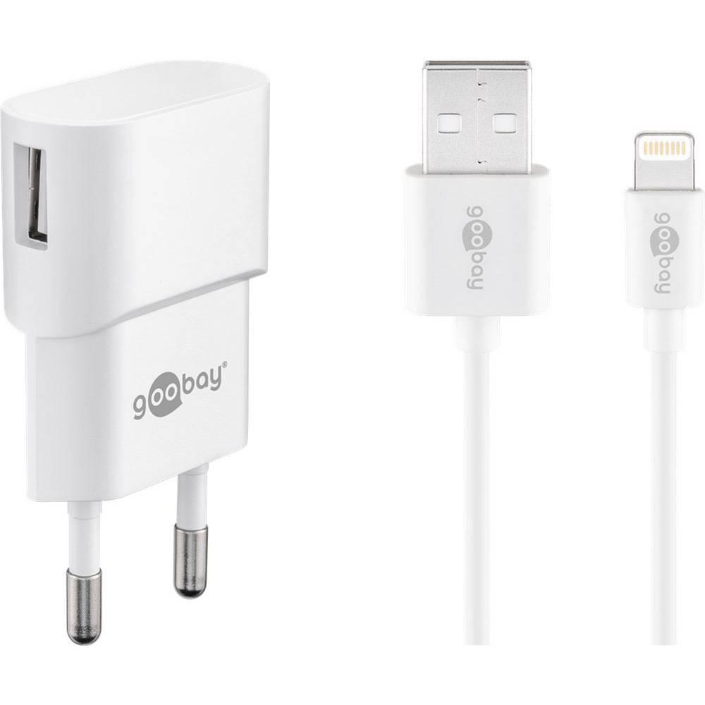 Goobay Apple Lightning Ladeset 1 A 45295 USB napajalnik Vtičnica Izhodni tok maks. 1 A 1 x Ženski konektor USB 2.0 tipa A