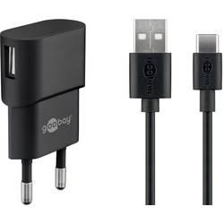 Goobay USB-C™ Ladeset 1 A 45298 USB napajalnik vtičnica Izhodni tok maks. 1 A 1 x ženski konektor USB 2.0 tipa a