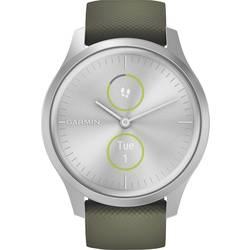Garmin vivomove Style, Silver-Moss Green, Silicone Pametna ura Mahovsko zelena