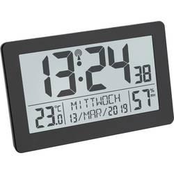 TFA Dostmann 60.2557.01 radijska brezžična ura 206 mm x 30 mm x 130 mm črna velik zaslon